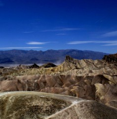 Death Valley widziane z Zabriskie Point